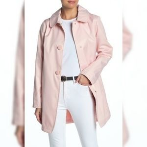 KSNY solid hooded rain coat  Small